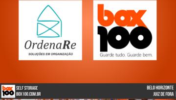 Parceria da Box100 SelfStorage com OrdenaRe Soluções em Organização.